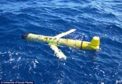 米海軍海洋調査船 無人潜水機