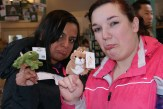 We started off in the gift shop. Anita and Kristine found these cute, sad finger puppets.
