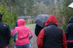 We didn't let a typical Northwest spring day get in the way. We just put up our hoods and umbrellas and carried on.