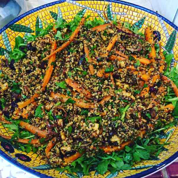 Moroccan Roasted Carrot, Arugula and Quinoa Salad
