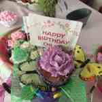 birthday cake, cupcake, flowers