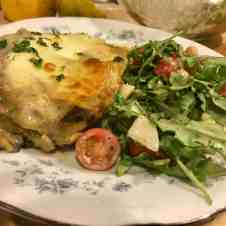 Vegetarian dinners, lasagne, mushrooms