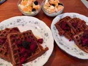 breakfast, waffles, sweet potato, gluten free