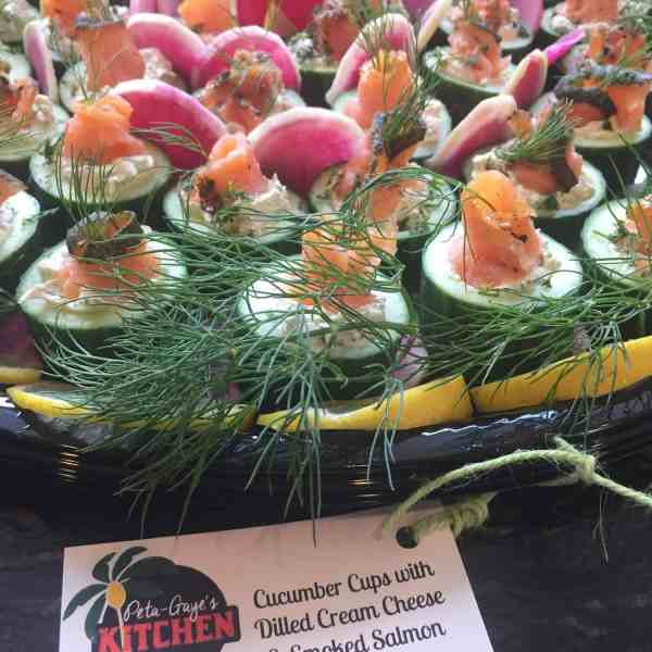 Cucumber Cups with Dilled Cream Cheese & Smoked Salmon