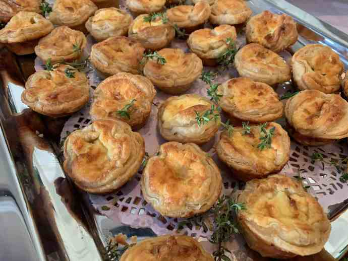 Caramelized Onion & Cheese Tarts, savory tarts, appetizers