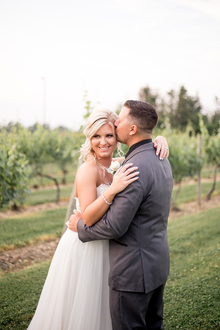 sunset wedding portraits in the vineyards