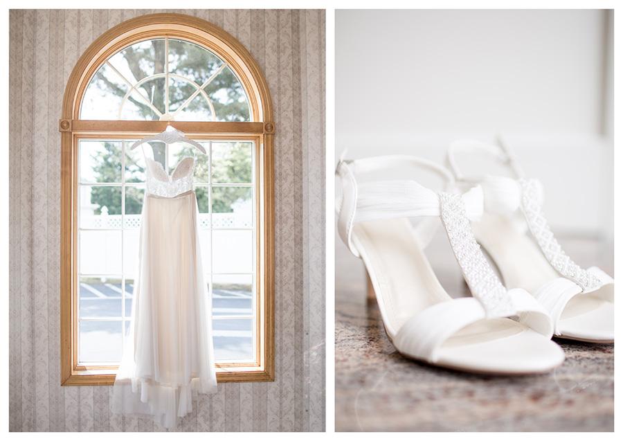 bride's wedding day attire