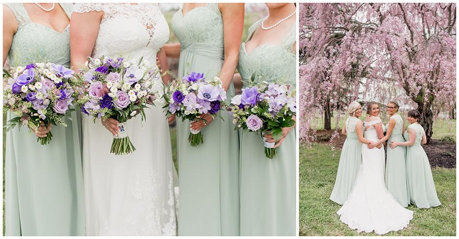 light purple wedding bouquets