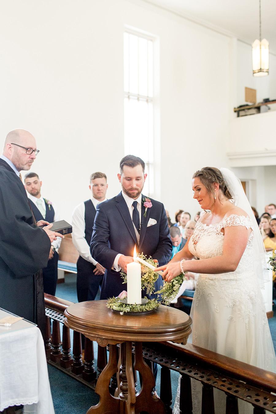 wedding ceremony in sharptown church, new jersey