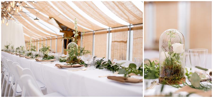 wedding reception at bast brothers garden center
