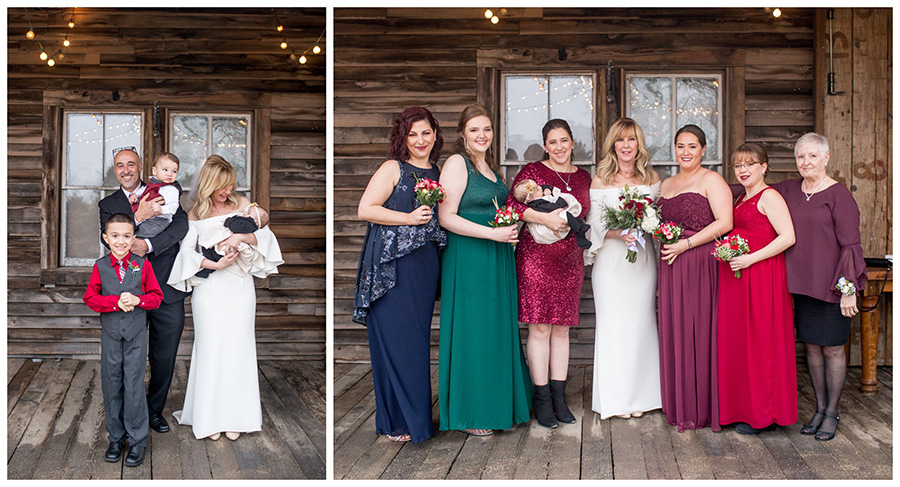 winter wedding colors for the bridesmaids and family