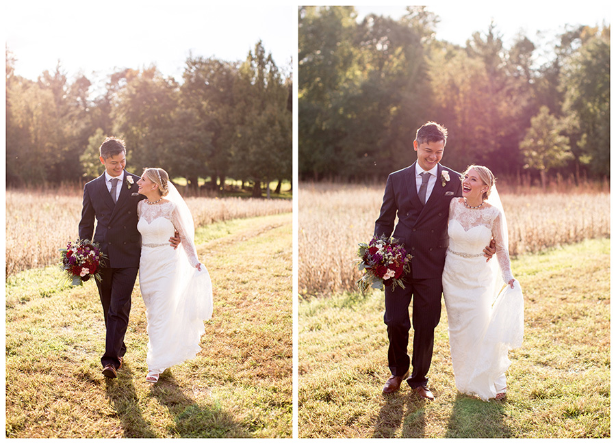 wedding portraits on a south jersey farm