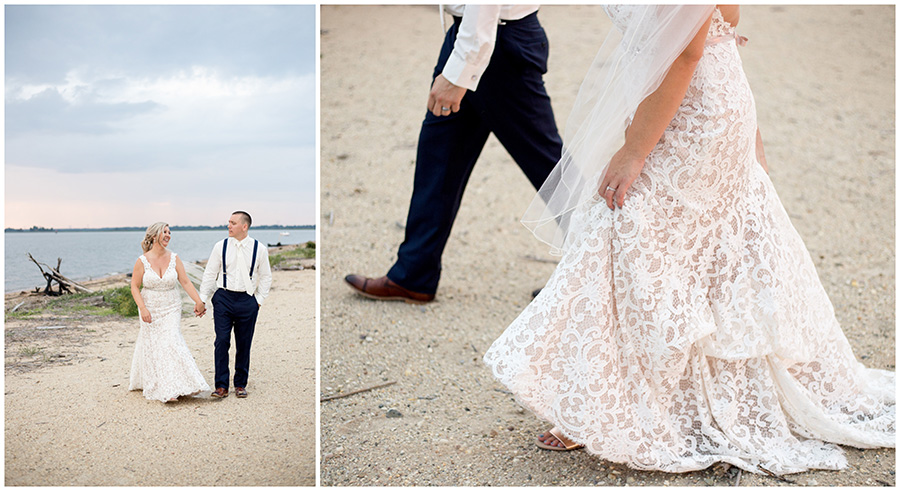beach wedding in south jersey at the inn at salem country club