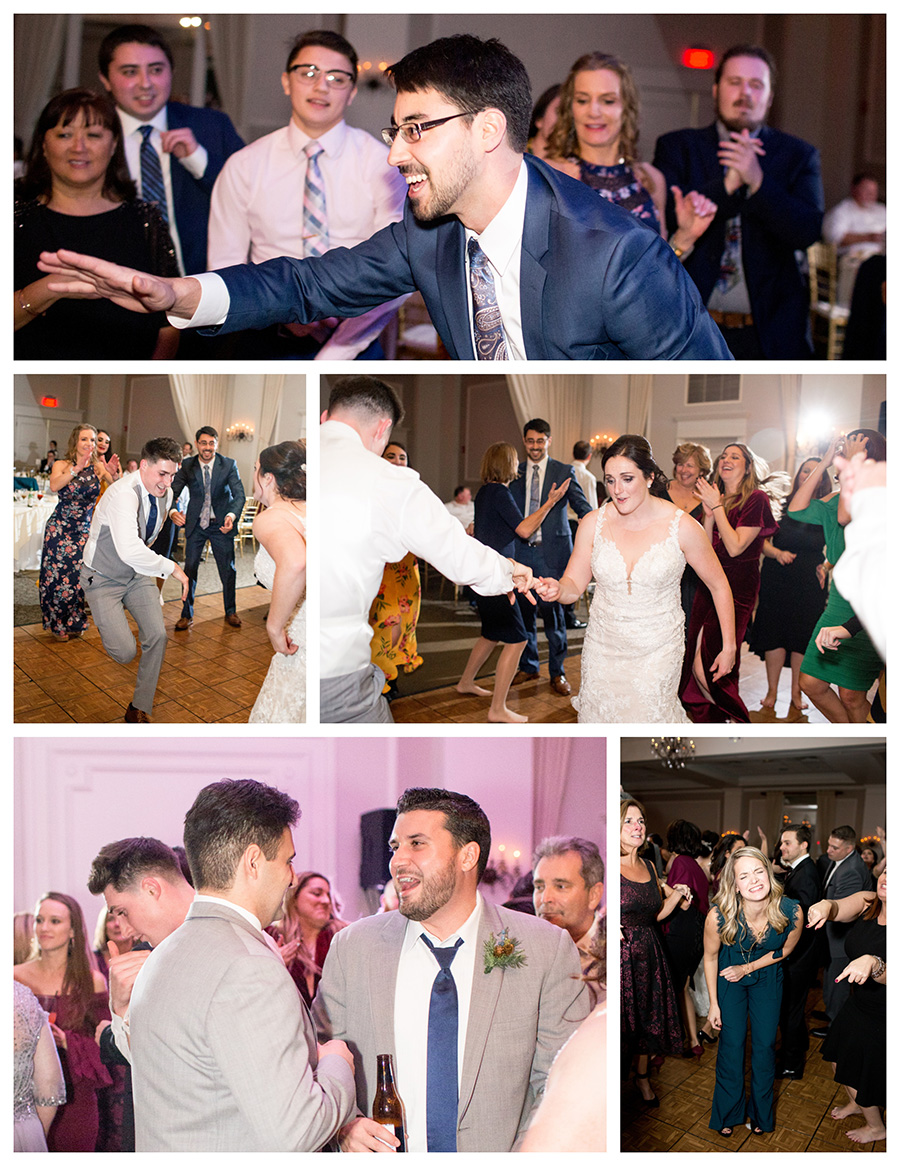 opening up the wedding dance floor at Eastlyn Golf Course