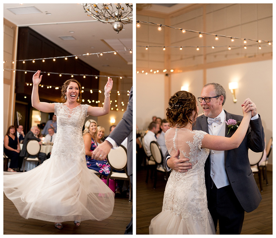 bride shares first dance with her dad at cafe madison in riverside nj