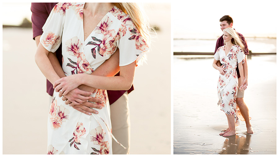 sunset engagement session in ocean city new jersey