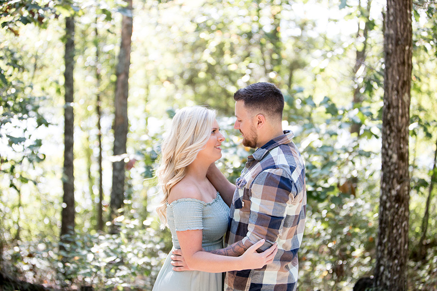 early fall engagement session