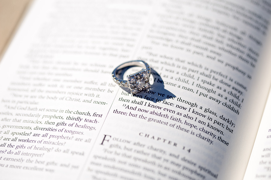 ring with an open bible