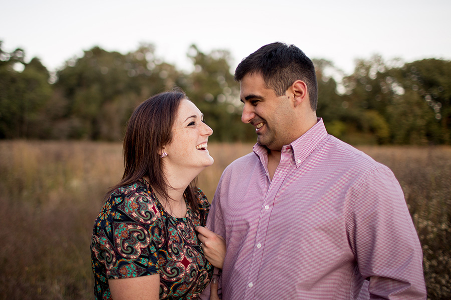 couple laughing together in parvin state park
