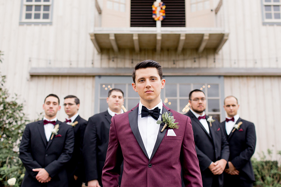 groom hanging out before the ceremony