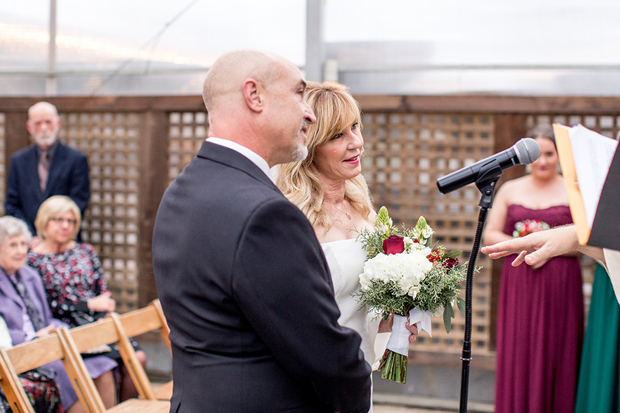 priest marries the couple during the wedding ceremony