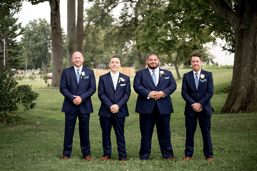 groomsmen hang out together
