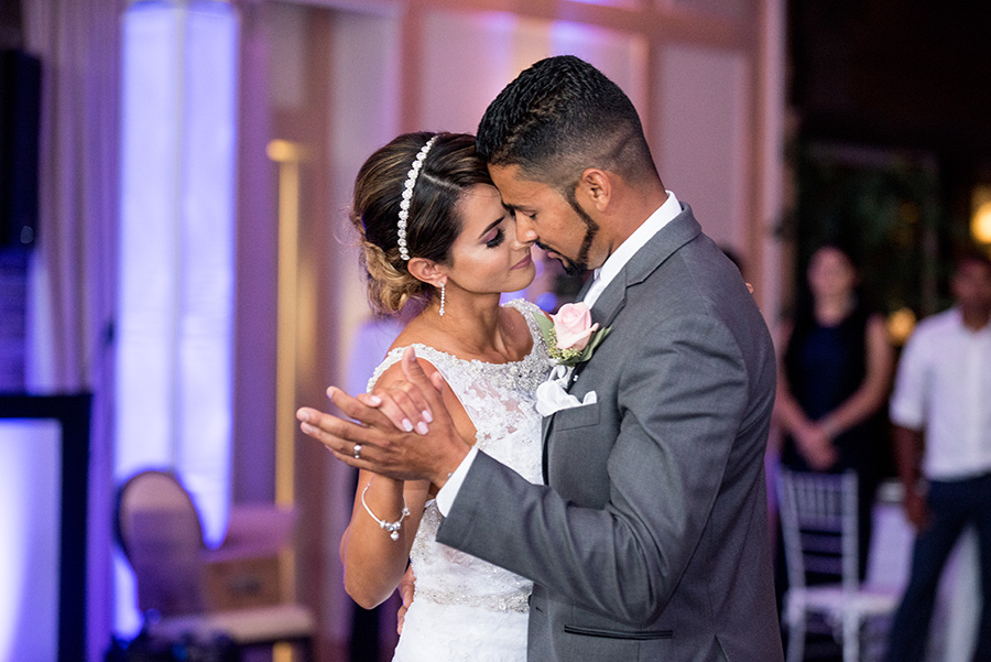 bride and groom dance at the madison in riverside