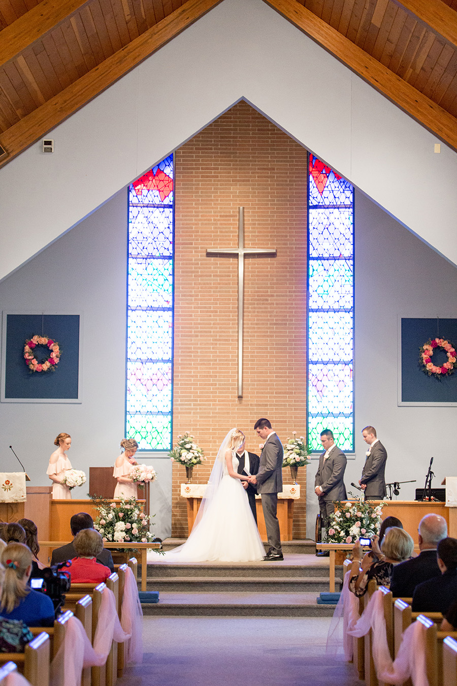 wedding ceremony at west park united methodist church