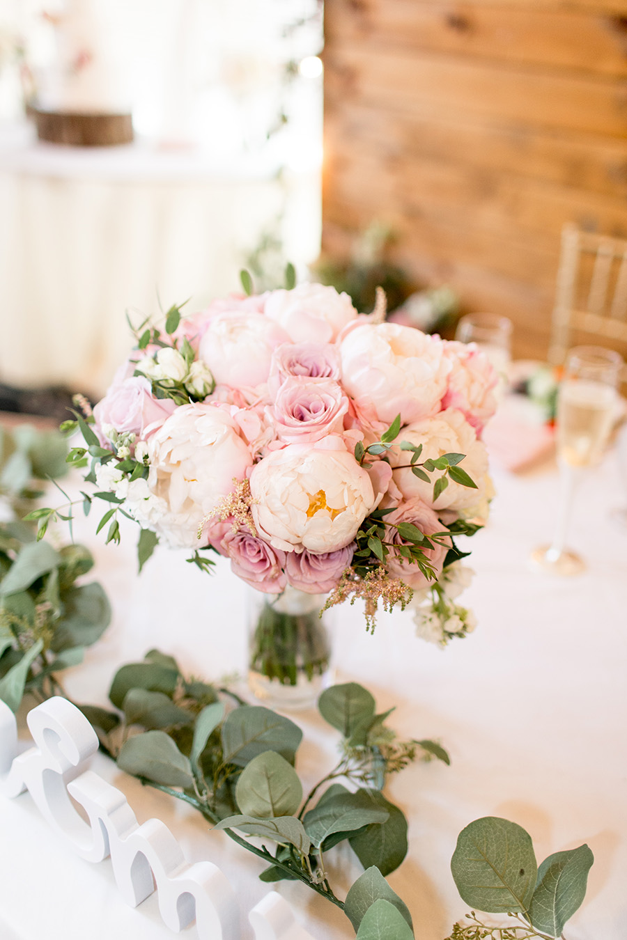 blush peony wedding bouquet