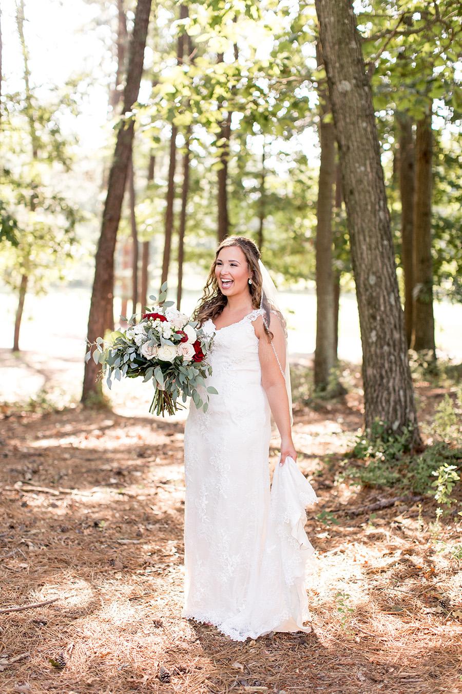 bridal wedding day portraits at running deer golf