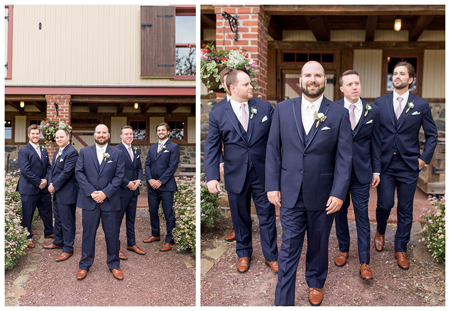 wedding party details at ironstone ranch