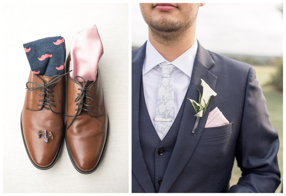 groom's modern wedding attire