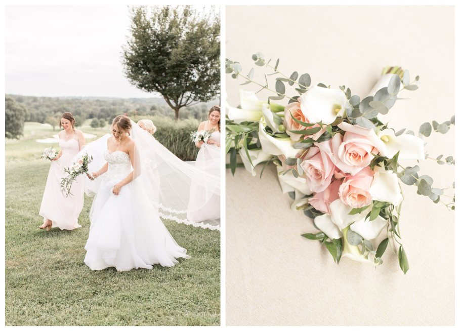 blush colored wedding at chubb hotel and conference center