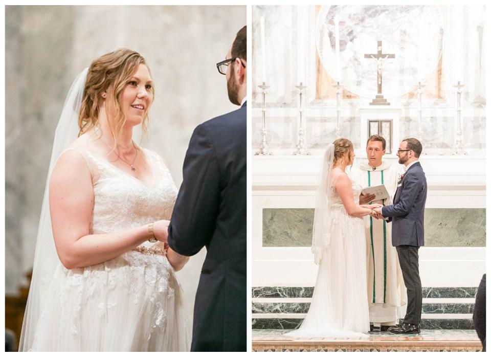 wedding ceremony at st patrick's church in philadelphia