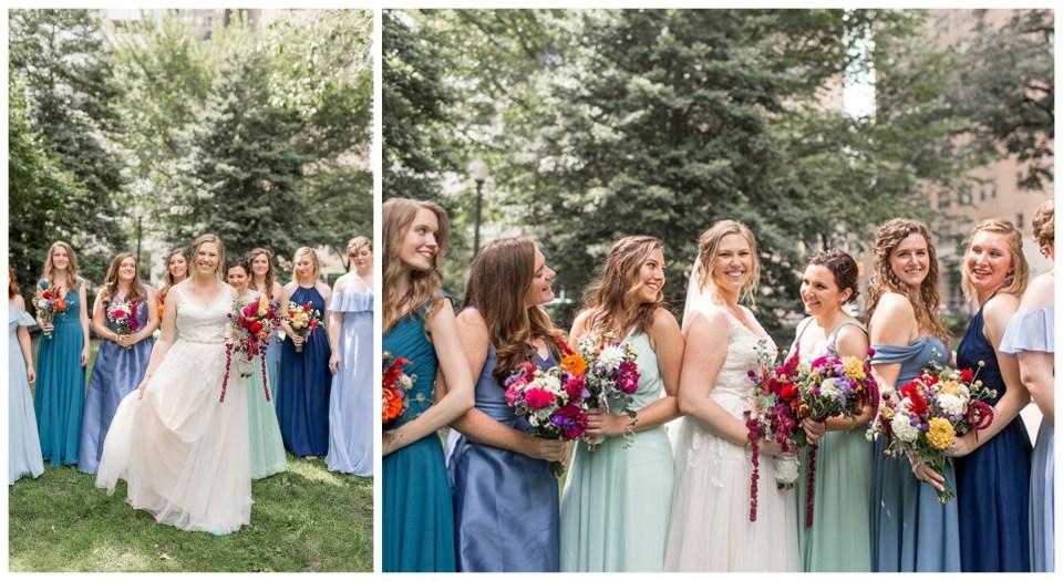 summer colored bridesmaid dresses