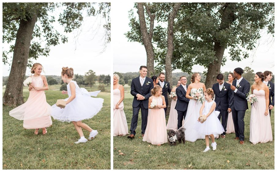 candid moments with the bridal party