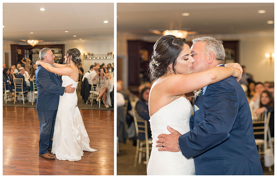 dad and daughter dance at wedding reception