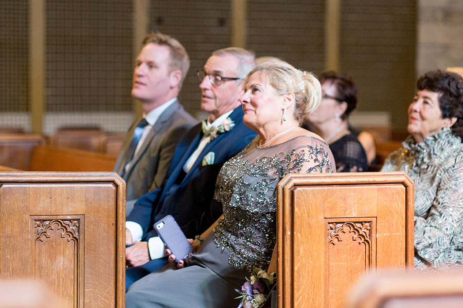parents of the groom react to wedding ceremony