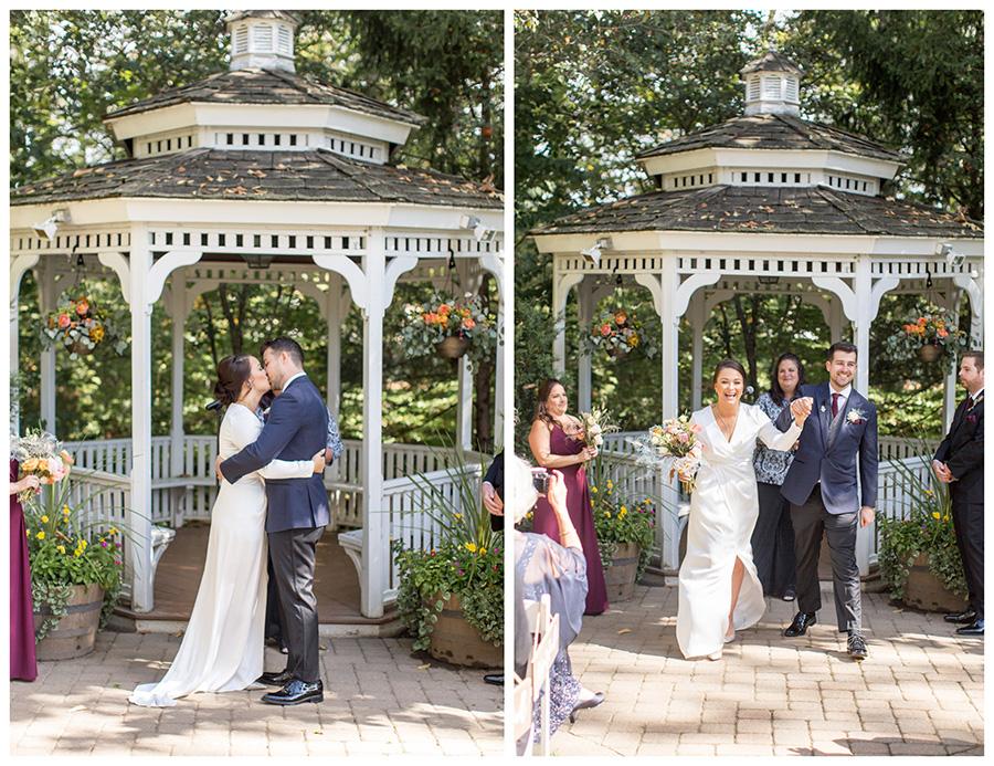 Fall wedding ceremony at Olde Mill Inn