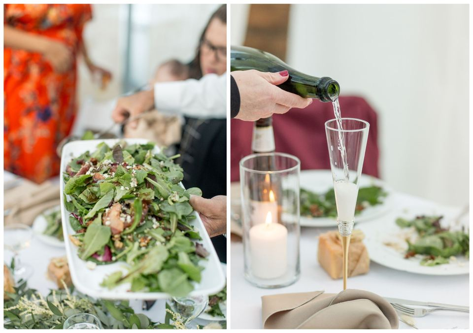 Garden salad at wedding reception