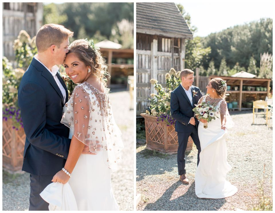 Garden center wedding portraits