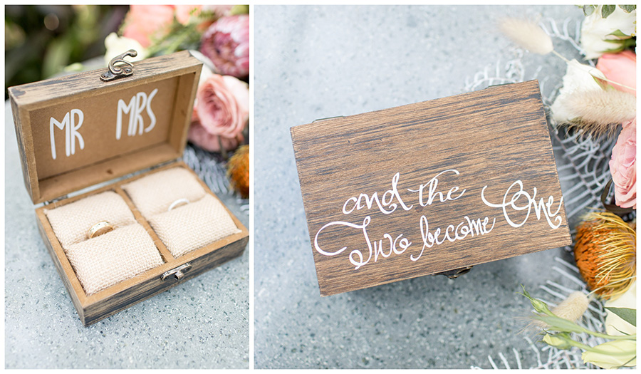 Mr. and Mrs. rustic ring box