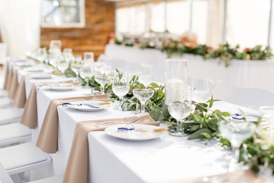 Greenhouse wedding reception at Bast Brothers