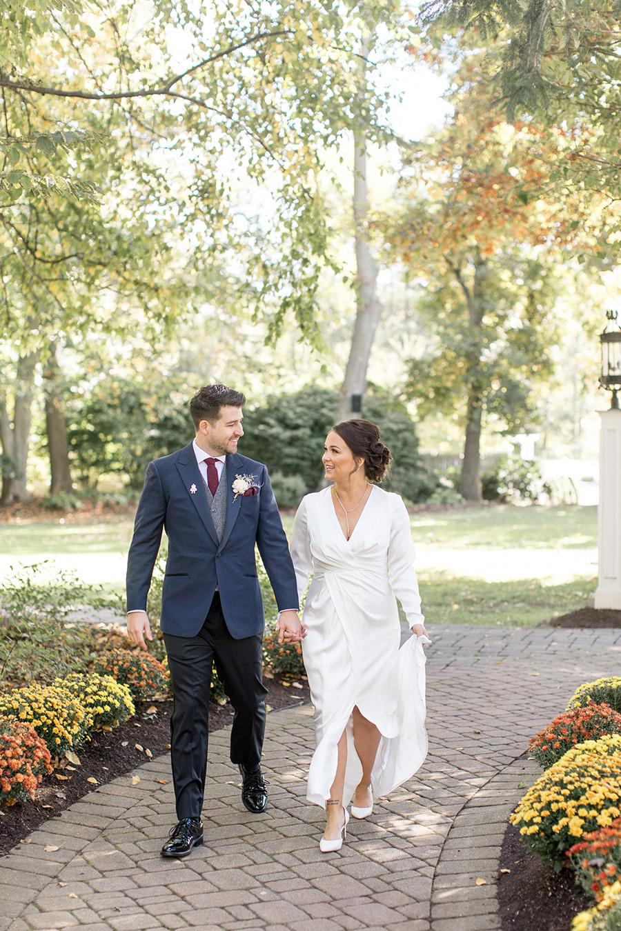 Wedding reception entrance at Olde Mill Inn
