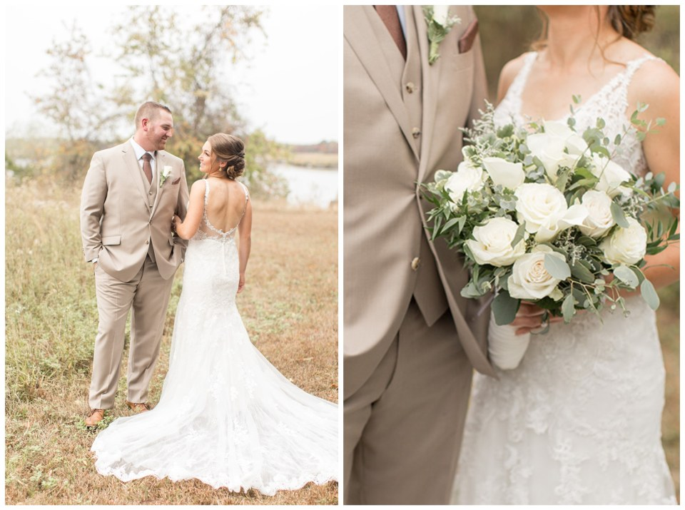 Waterfront wedding portraits at Eagle Manor