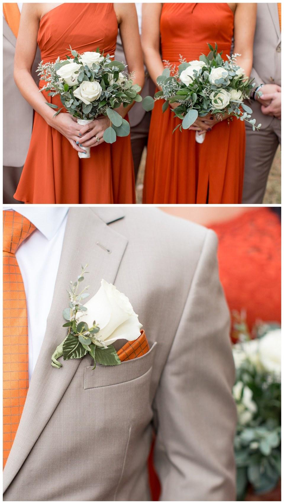 orange and tan wedding colors