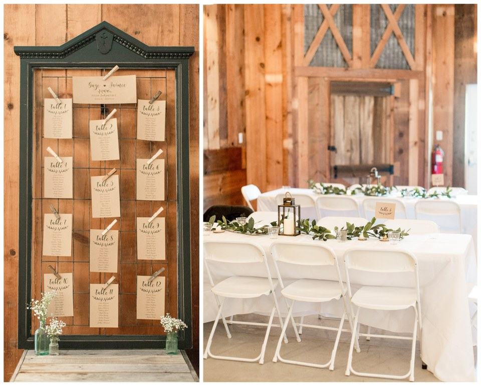 rustic wedding reception seating chart