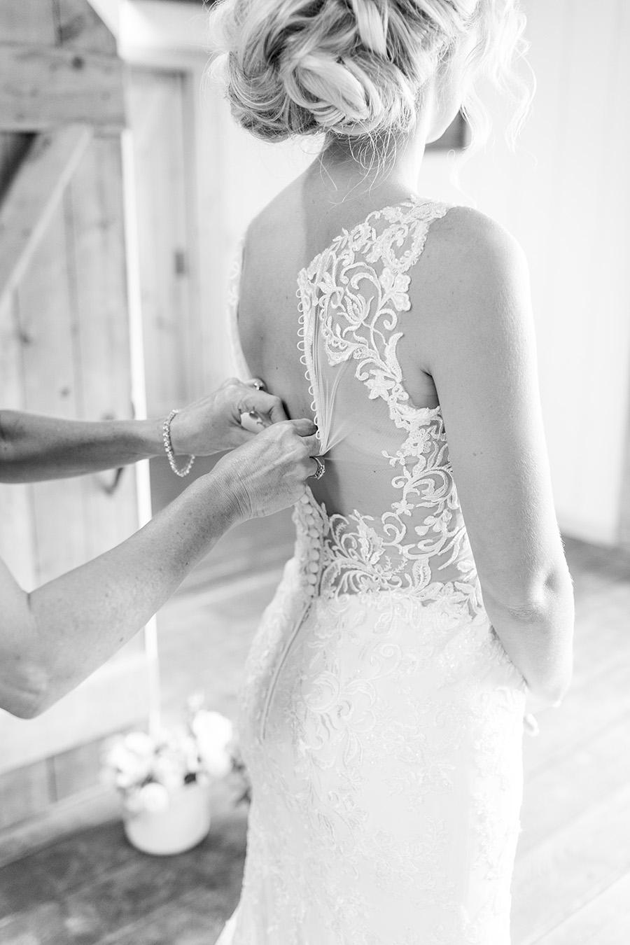 lacy illusion back wedding dress