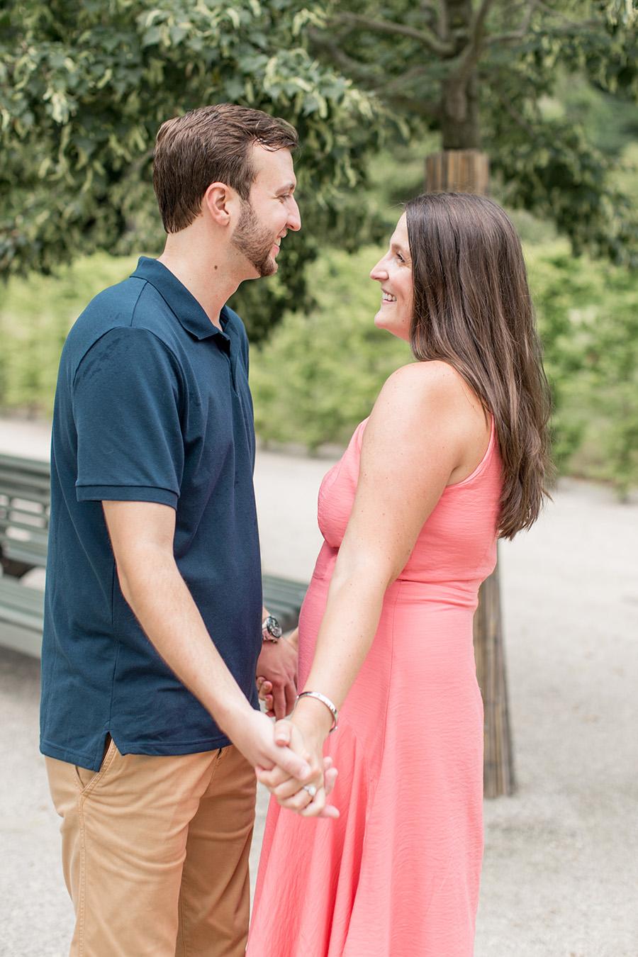 summer engagement at longwood gardens