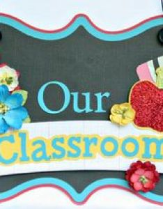 To make everyone feel welcome in the classroom  came up with an idea for this sign used my cameo and  svgcuts file create itself also back school blog hop day petaloo rh typepad